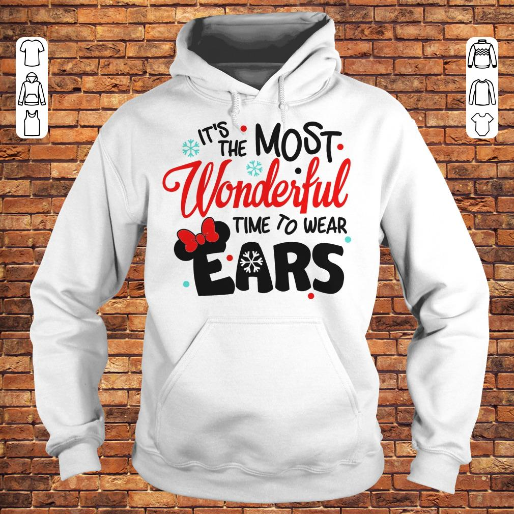 Disney It's The Most Wonderful Time To Wear Ears shirt