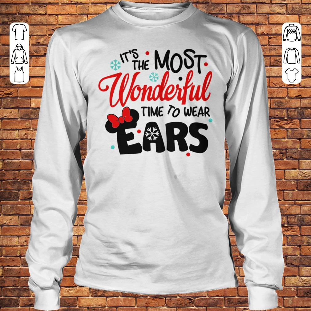 Disney It's The Most Wonderful Time To Wear Ears shirt Longsleeve Tee Unisex