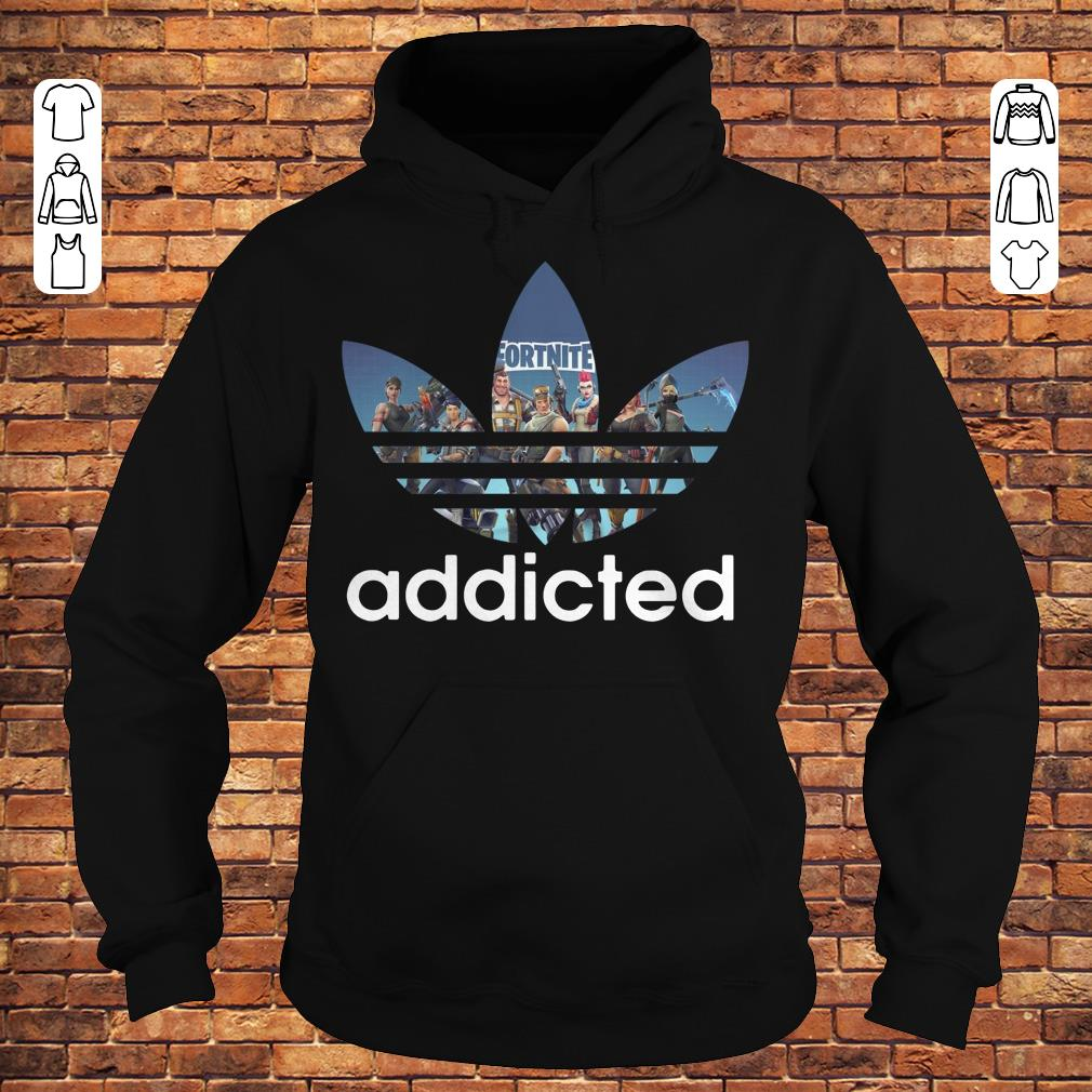 Fortnite addicted Adidas shirt Hoodie