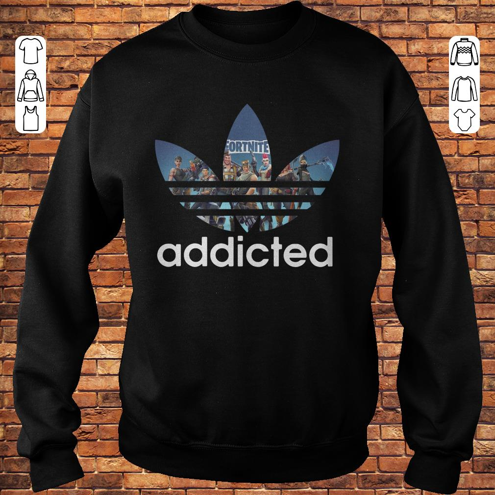 Fortnite addicted Adidas shirt