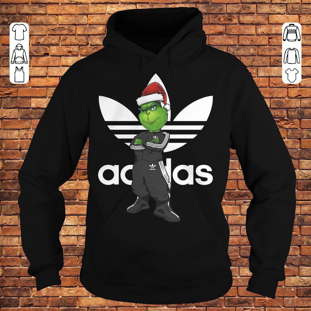 Grinch Santa Adidas shirt Hoodie