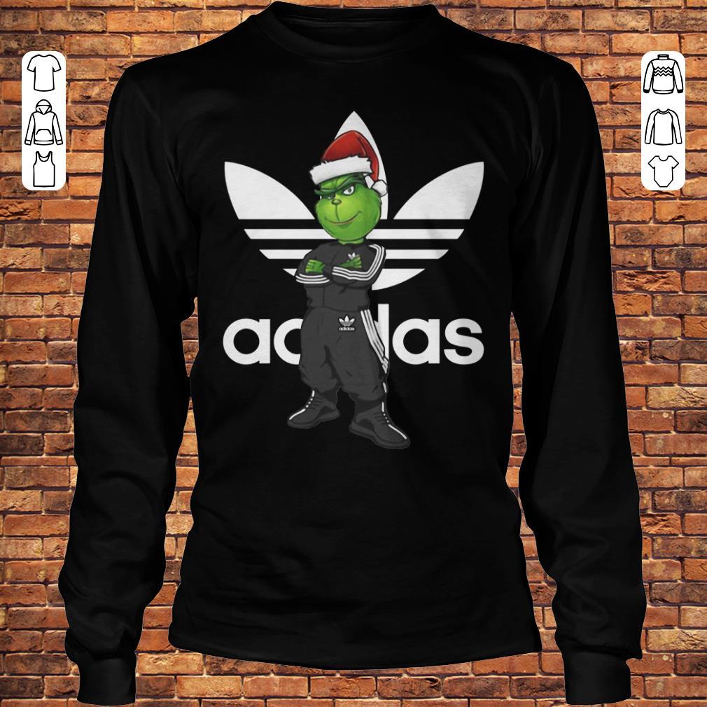 Grinch Santa Adidas shirt Longsleeve Tee Unisex