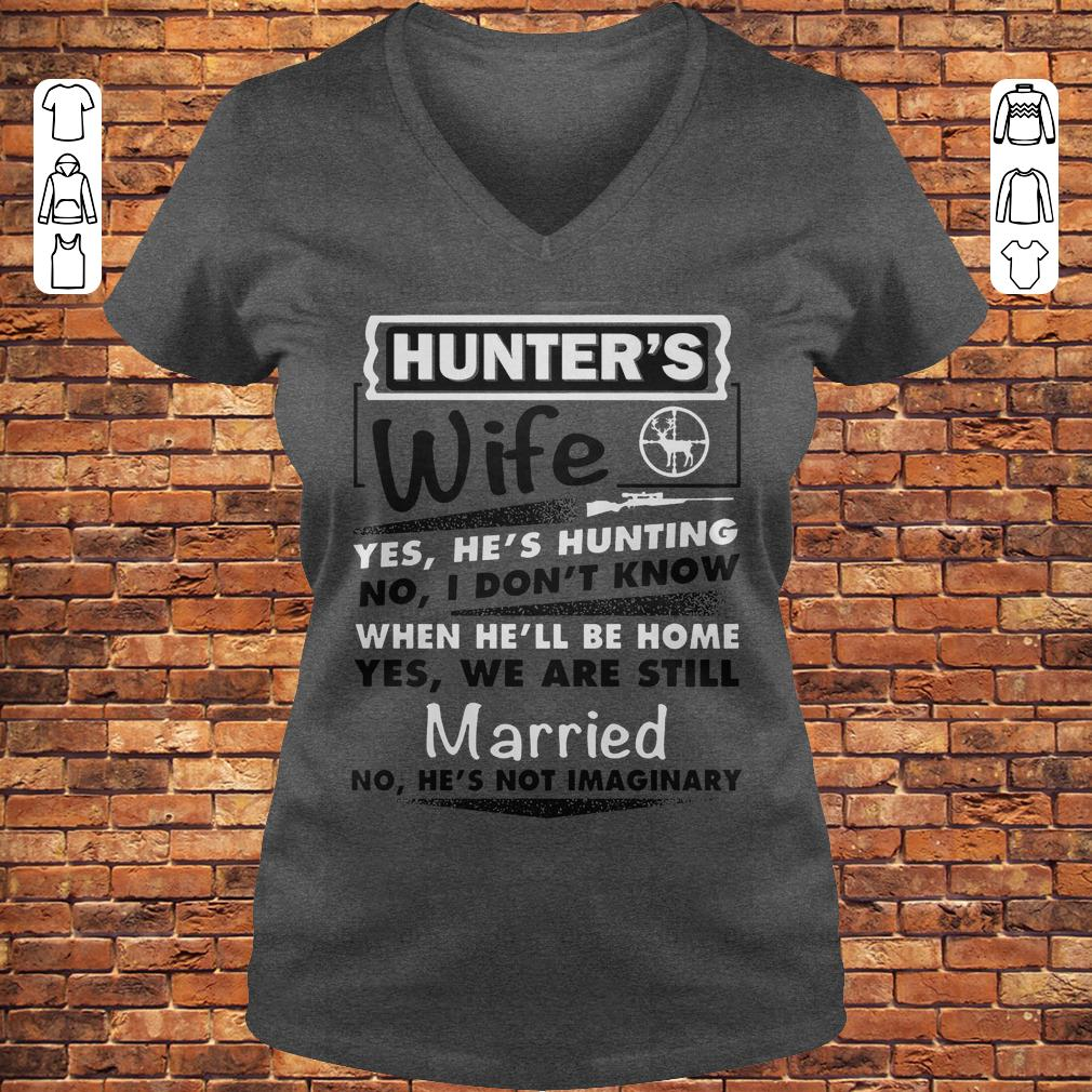 Hunter's Wife Shirt Ladies V-Neck