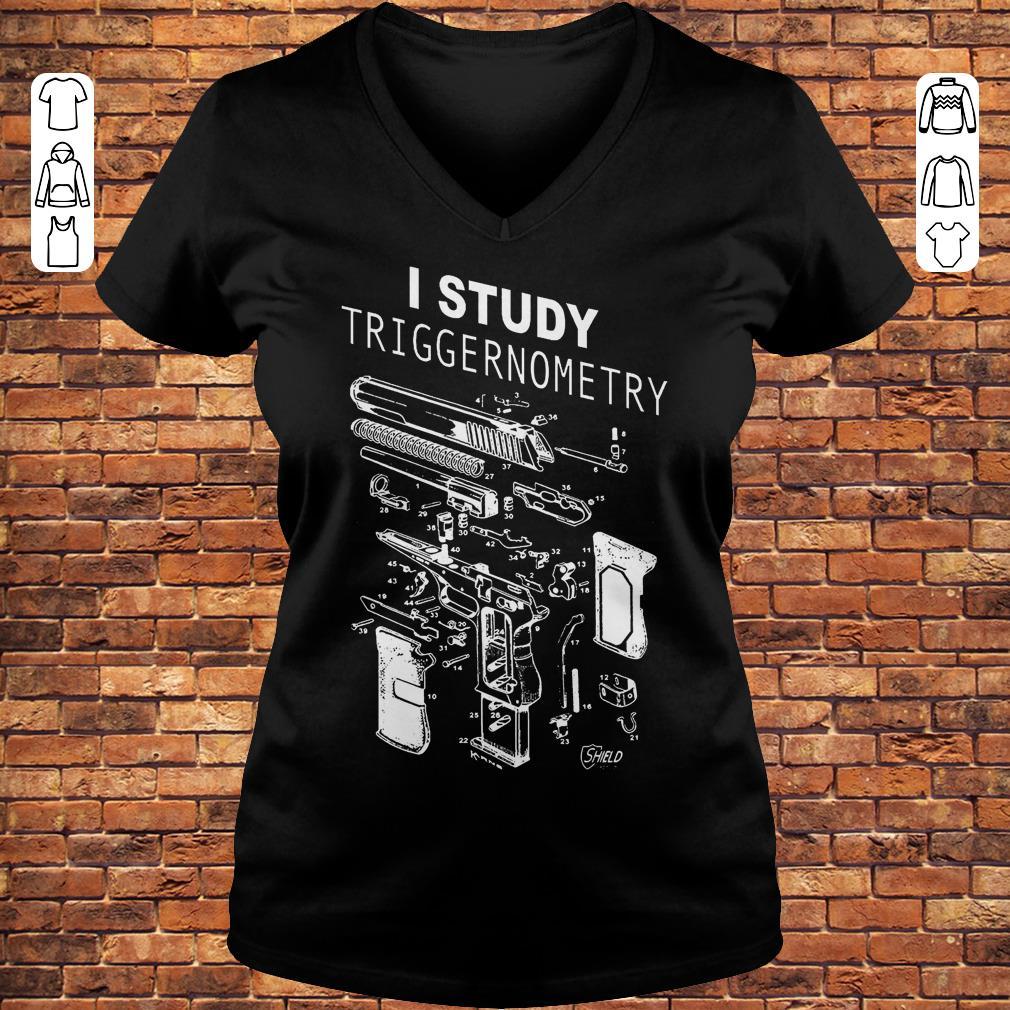 I Study Triggernometry shirt Ladies V-Neck
