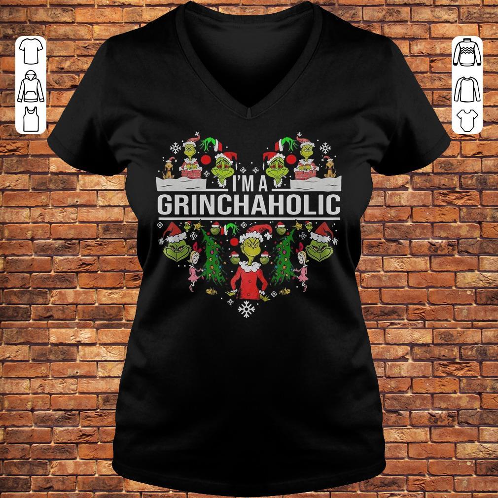 I'm A Grinch Aholic Shirt Ladies V-Neck