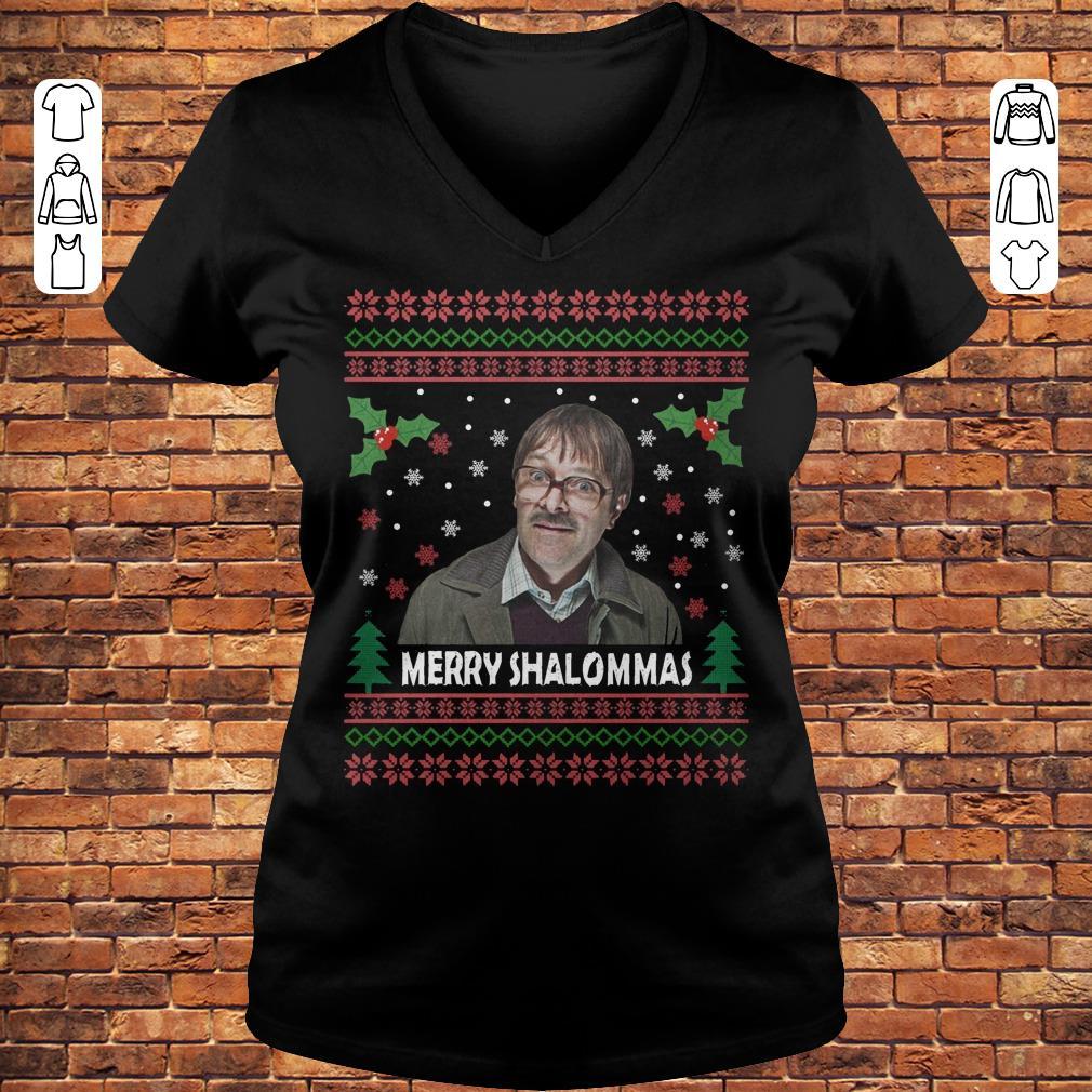 Jim Bell Merry Shalommas Shirt Ladies V-Neck