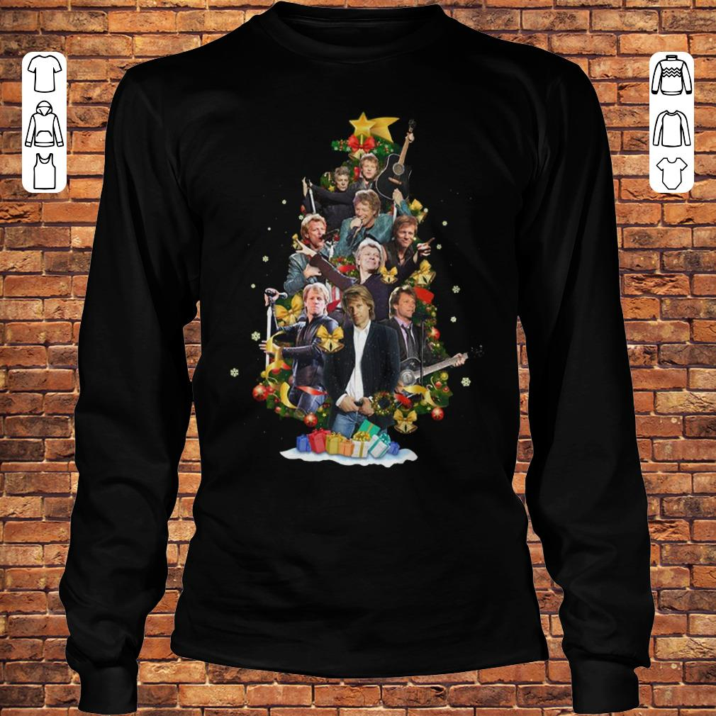 Jon Bon Jovi Christmas Tree shirt Longsleeve Tee Unisex