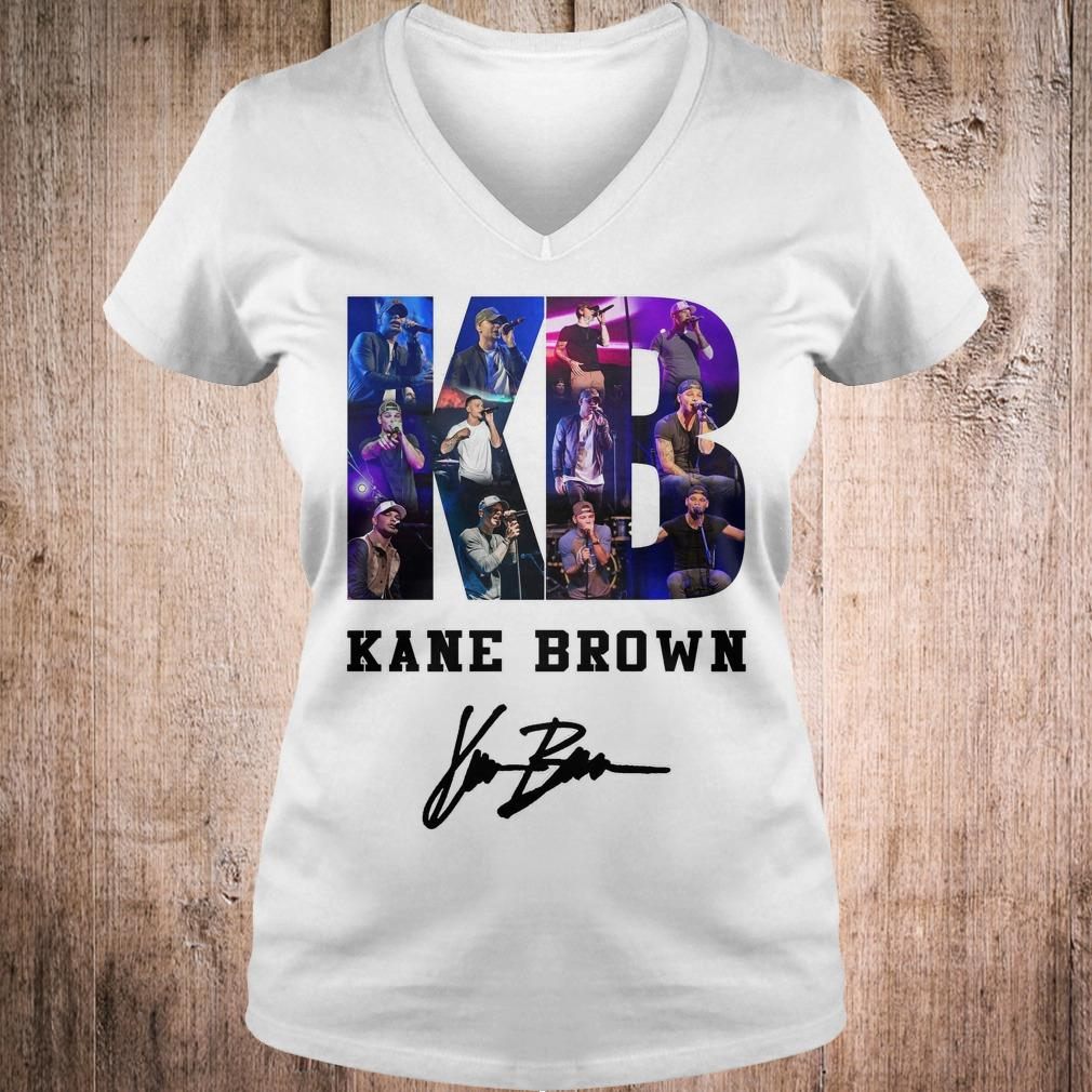 Kane Brown Signed Autograph shirt Ladies V-Neck