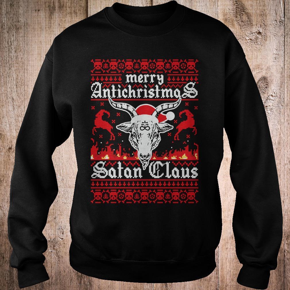 Merry Antichristmas Satan Claus Ugly Christmas Sweatshirt