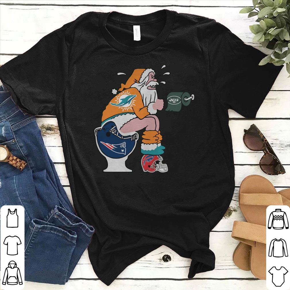 Miami Dolphins Santa New England Patriots Toilet shirt 51f572503