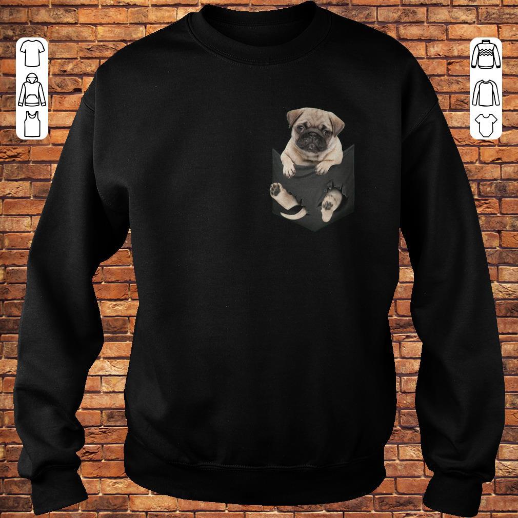 Miniature pug In Pocket shirt