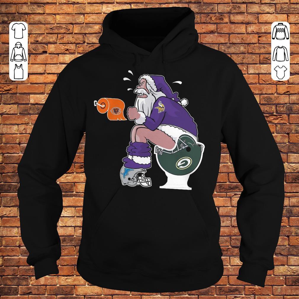 Minnesota Vikings Santa Toilet shirt Hoodie