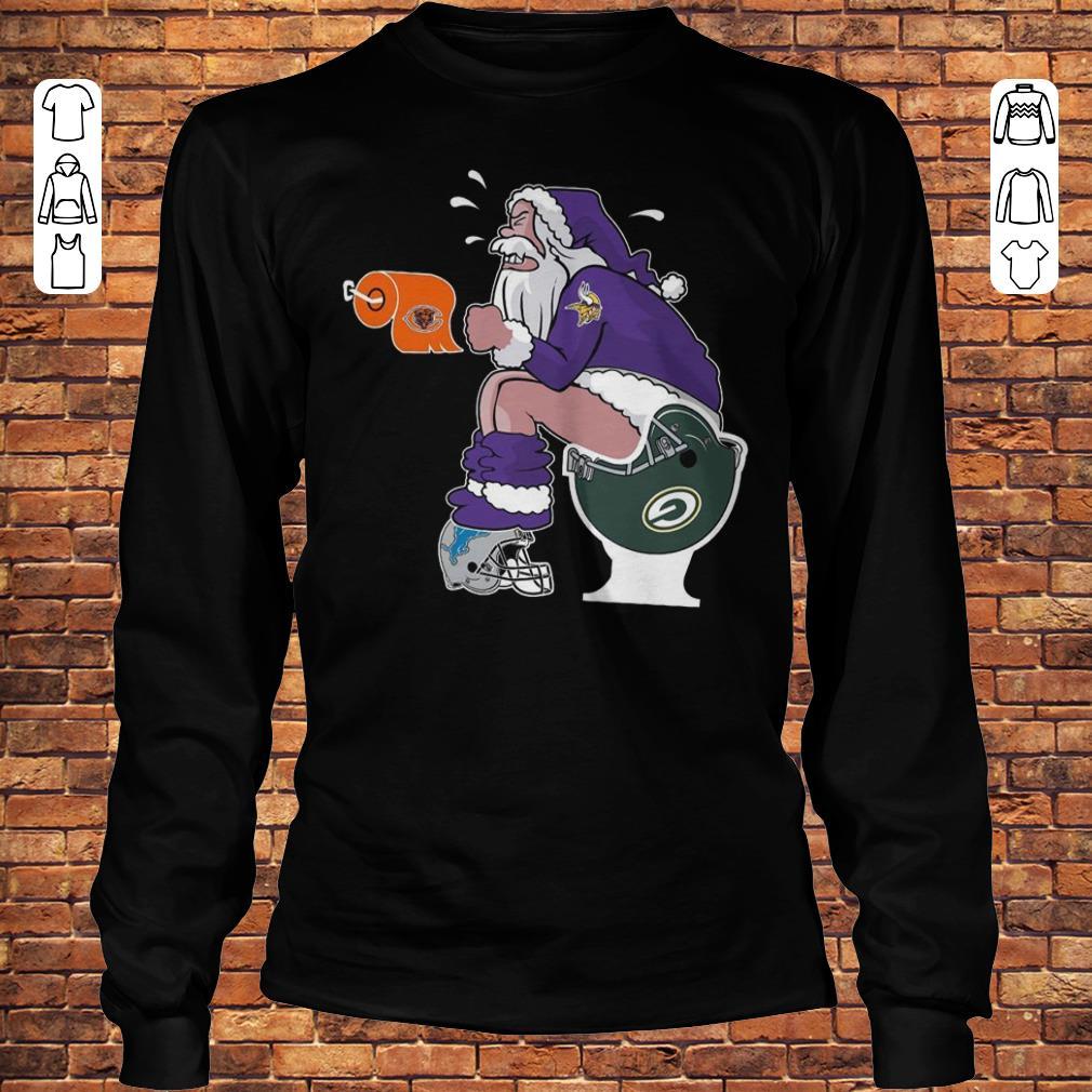 Minnesota Vikings Santa Toilet shirt Longsleeve Tee Unisex