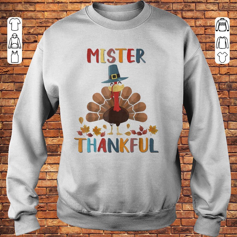 Mister Thankful Turkey Thanksgiving Shirt