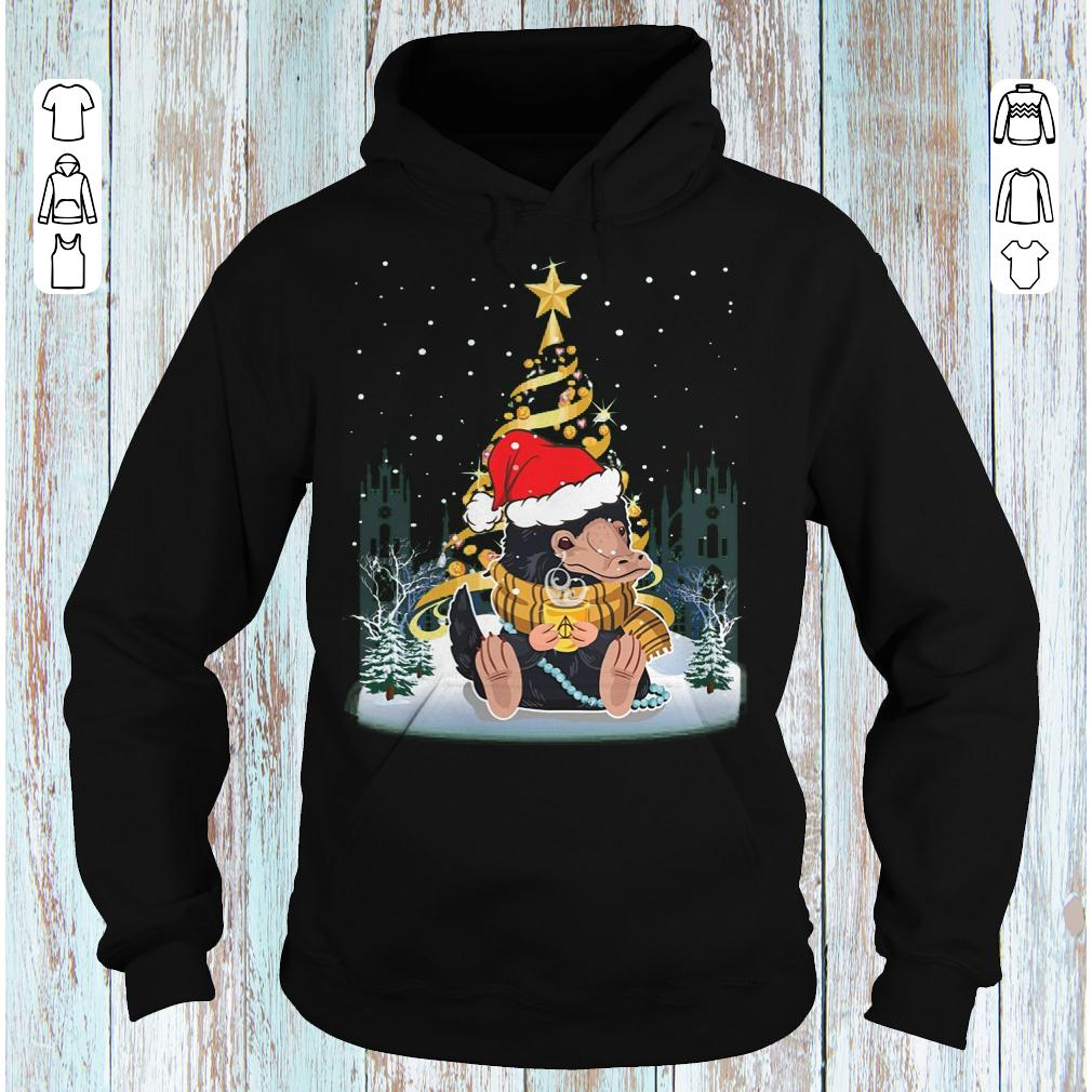 Niffler with santa hat gold christmas tree shirt Hoodie
