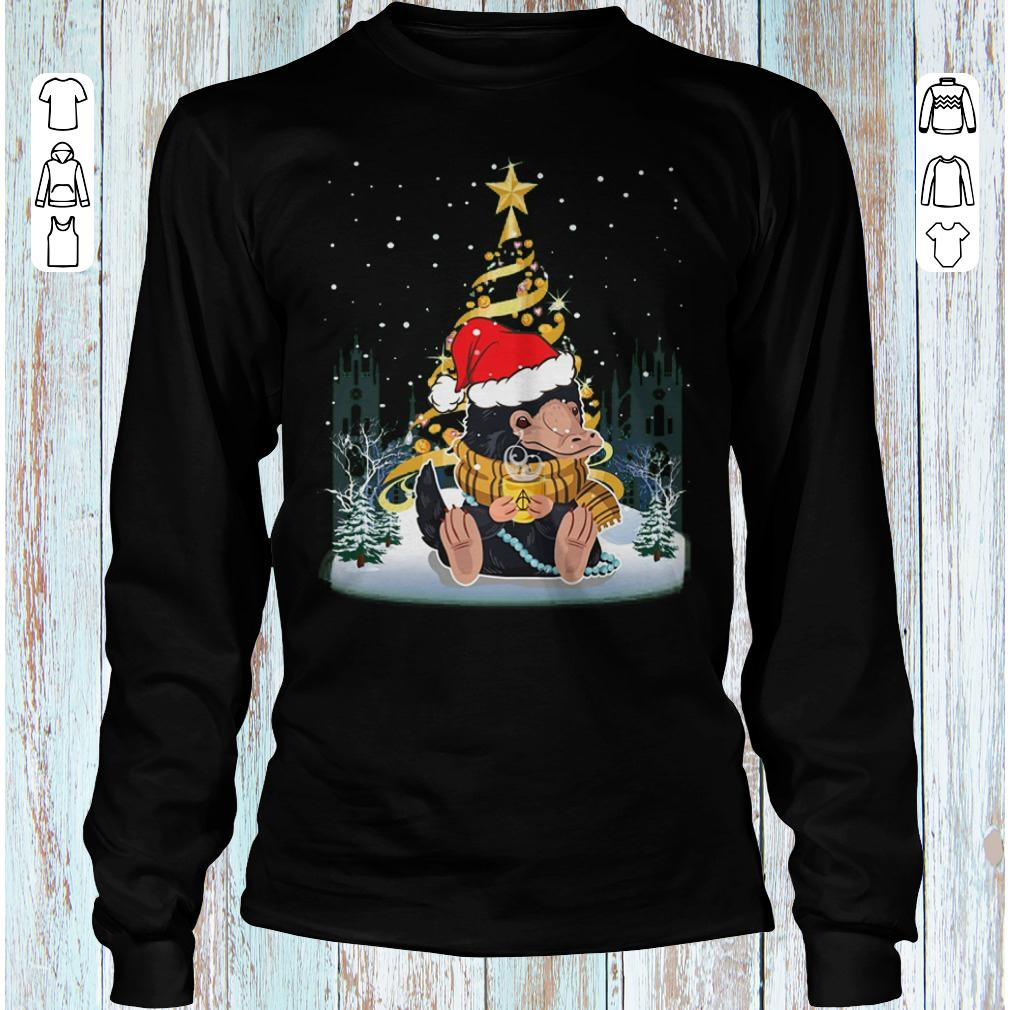 Niffler with santa hat gold christmas tree shirt Longsleeve Tee Unisex