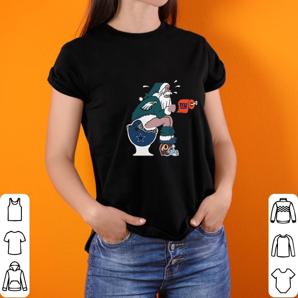 the best attitude 915ba 901ce Philadelphia Eagles Santa Dallas Cowboys Toilet shirt, hoodie, sweater,  longsleeve t-shirt