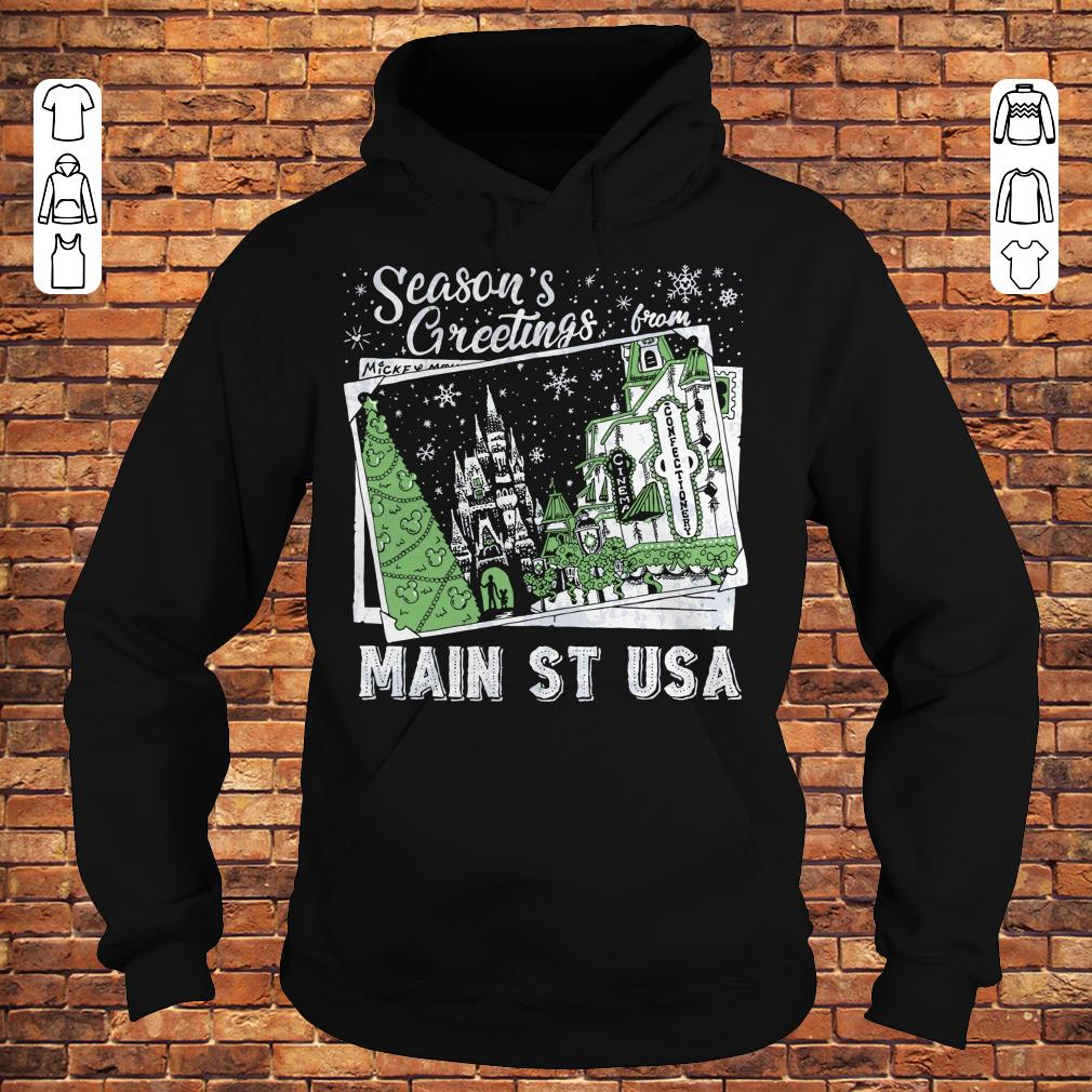 Picture Main St USA Season's Greetings from shirt Hoodie