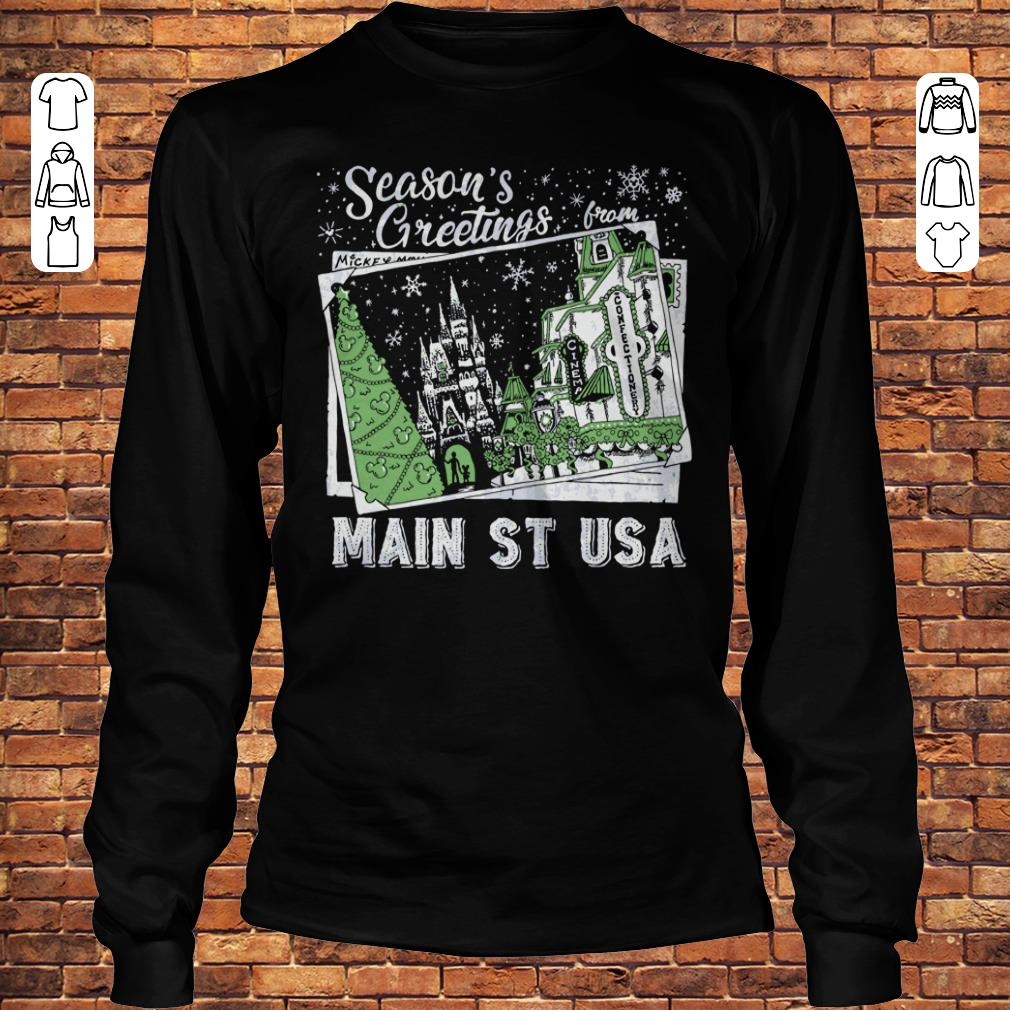 Picture Main St USA Season's Greetings from shirt Longsleeve Tee Unisex