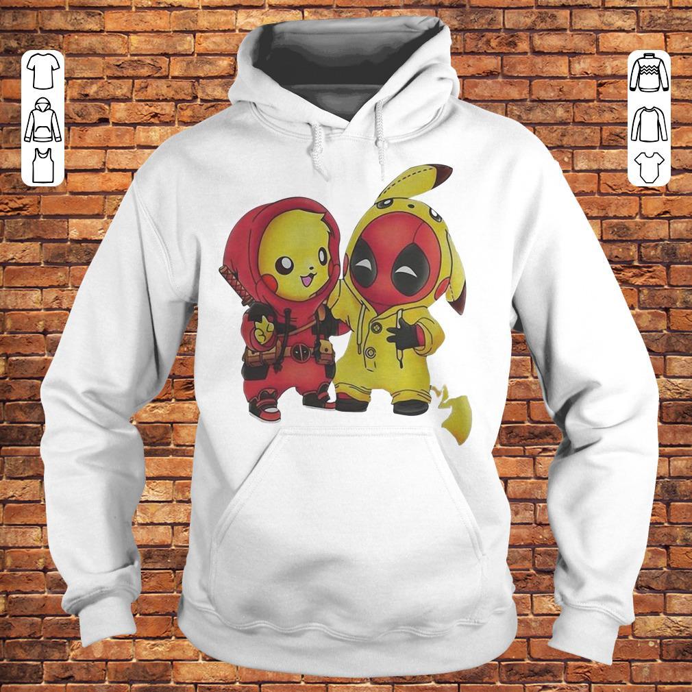 Pikachu and Deadpool shirt Hoodie
