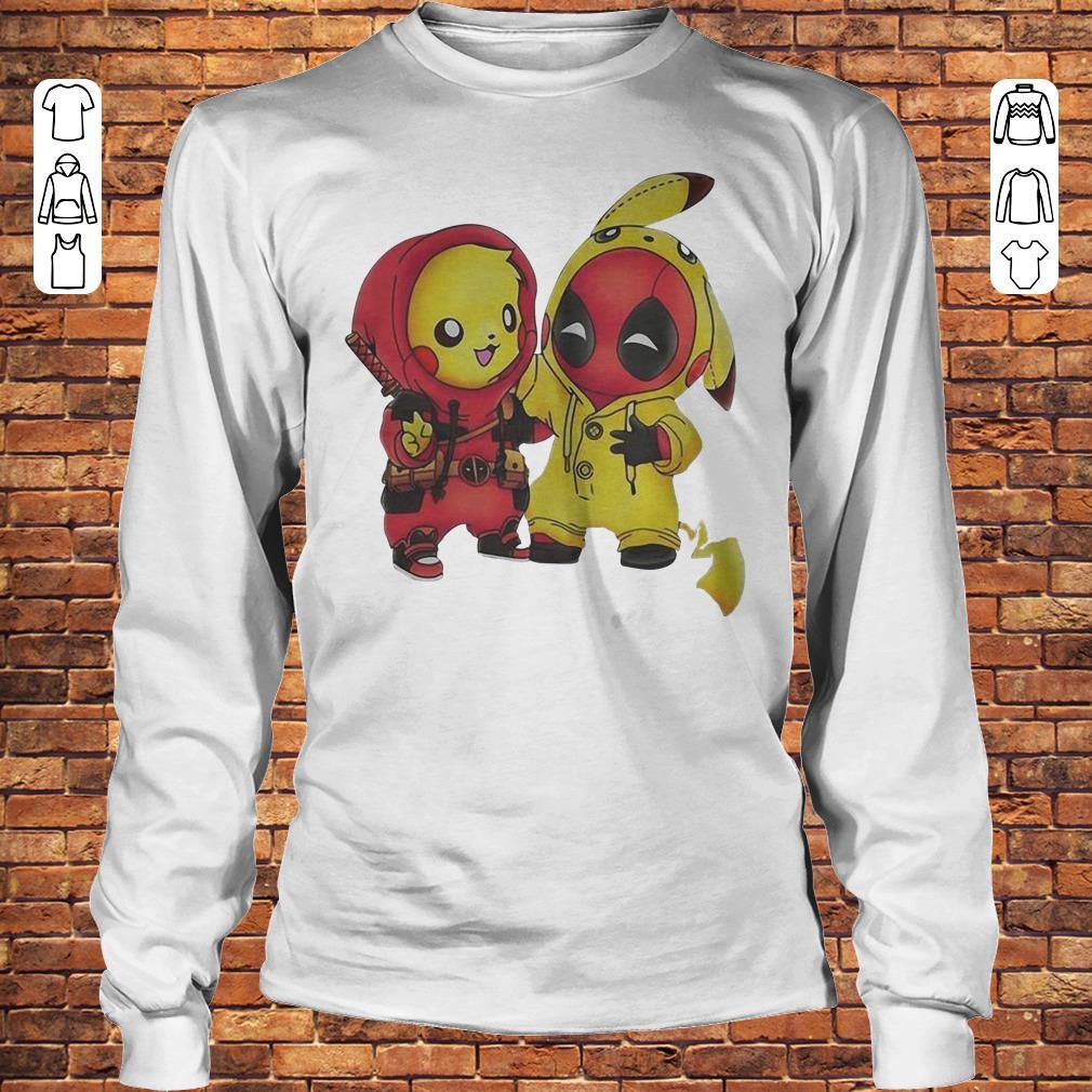 Pikachu and Deadpool shirt Longsleeve Tee Unisex