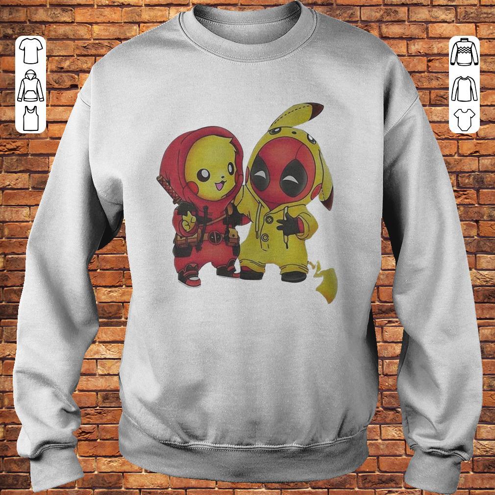 Pikachu and Deadpool shirt