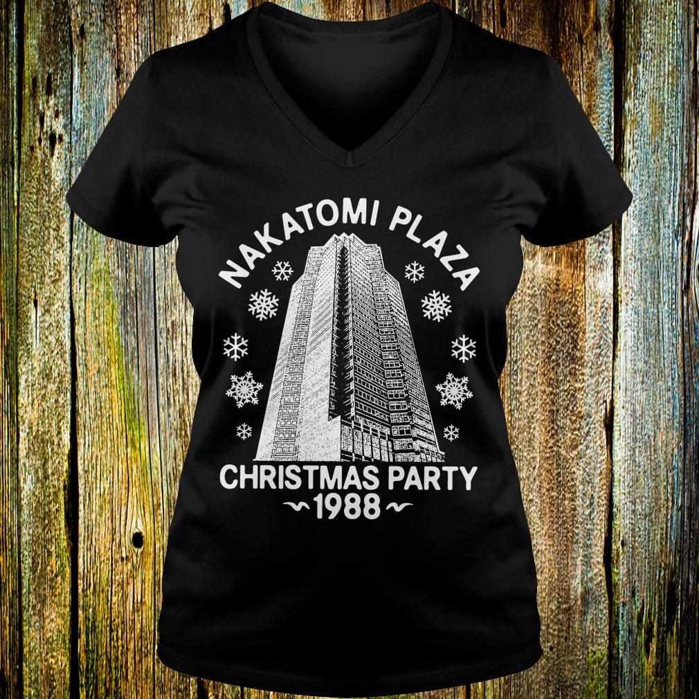 Premium Christmas party nakatomi plaza 1988 shirt Ladies V-Neck