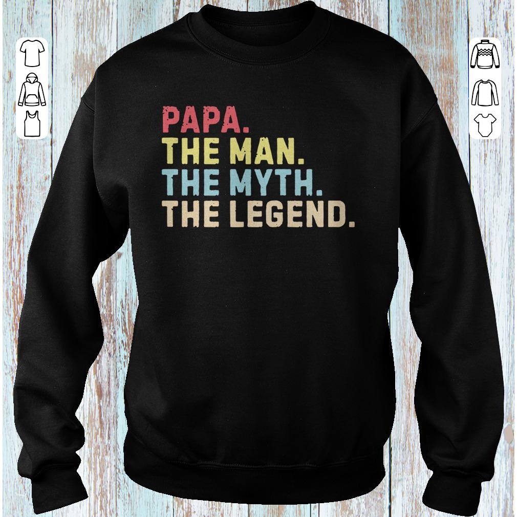 Premium Papa the man the myth the legend sweater