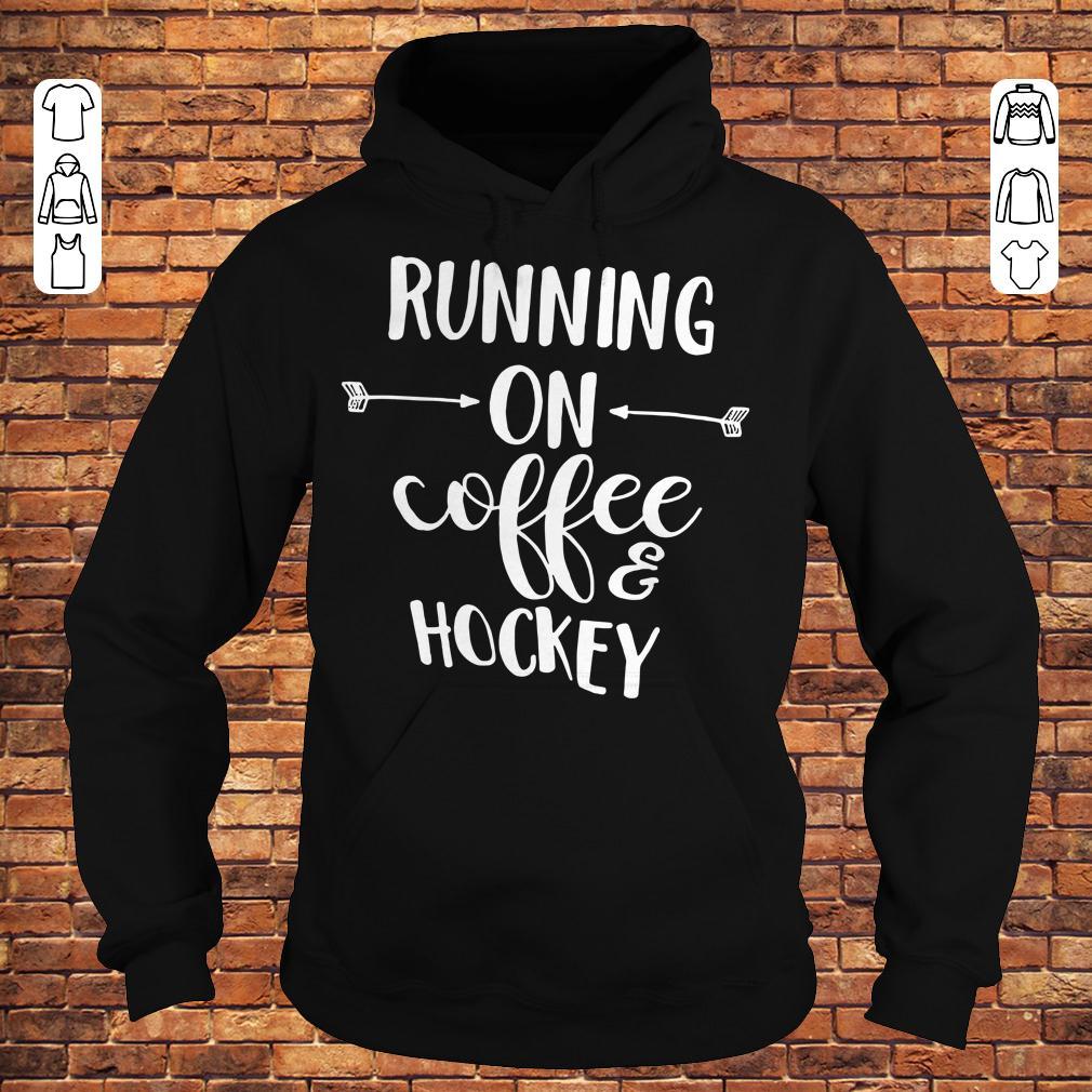 Running on coffee and hockey shirt