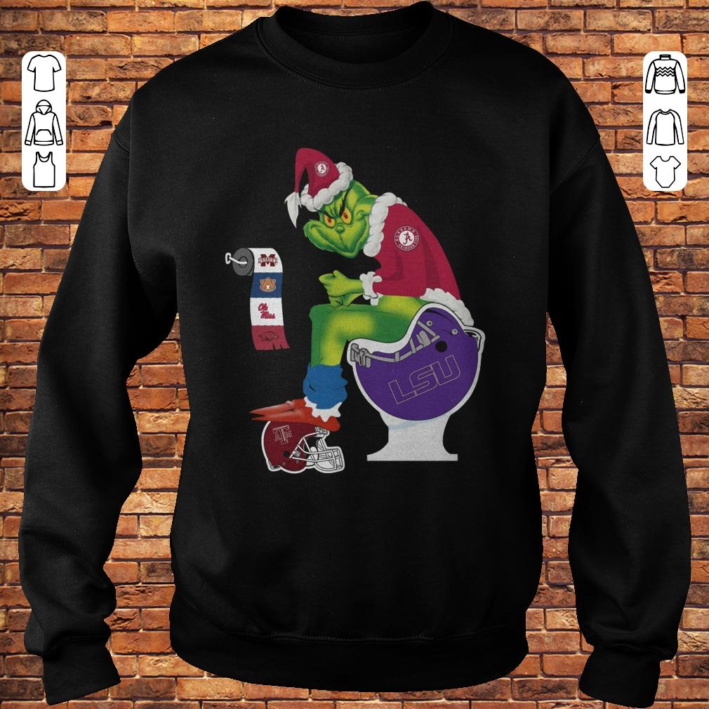 Santa Grinch Alabama Crimson Tide LSU Tigers Toilet shirt