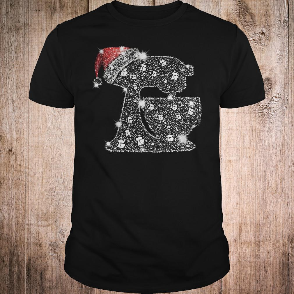 Snoopy Baking Glitter and rhinestones with santa hat shirt Classic Guys / Unisex Tee