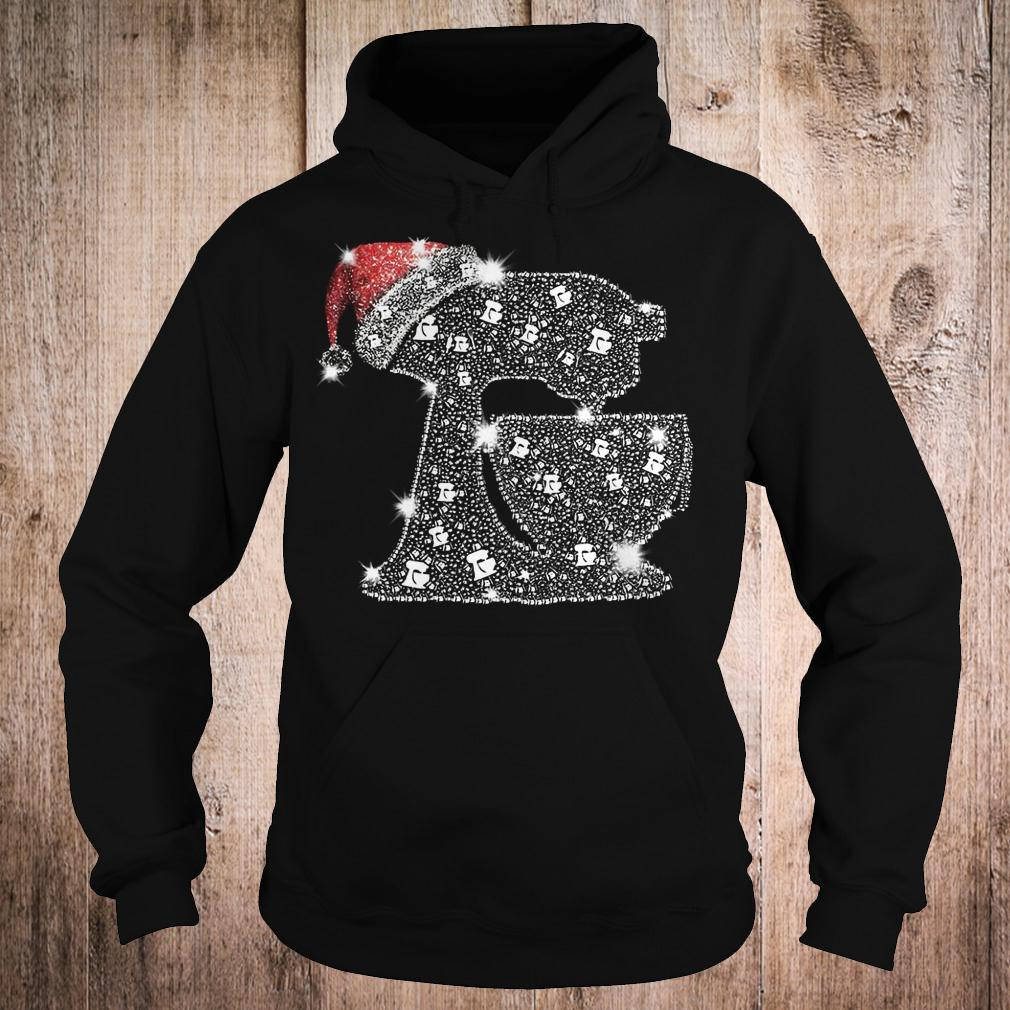 Snoopy Baking Glitter and rhinestones with santa hat shirt Hoodie