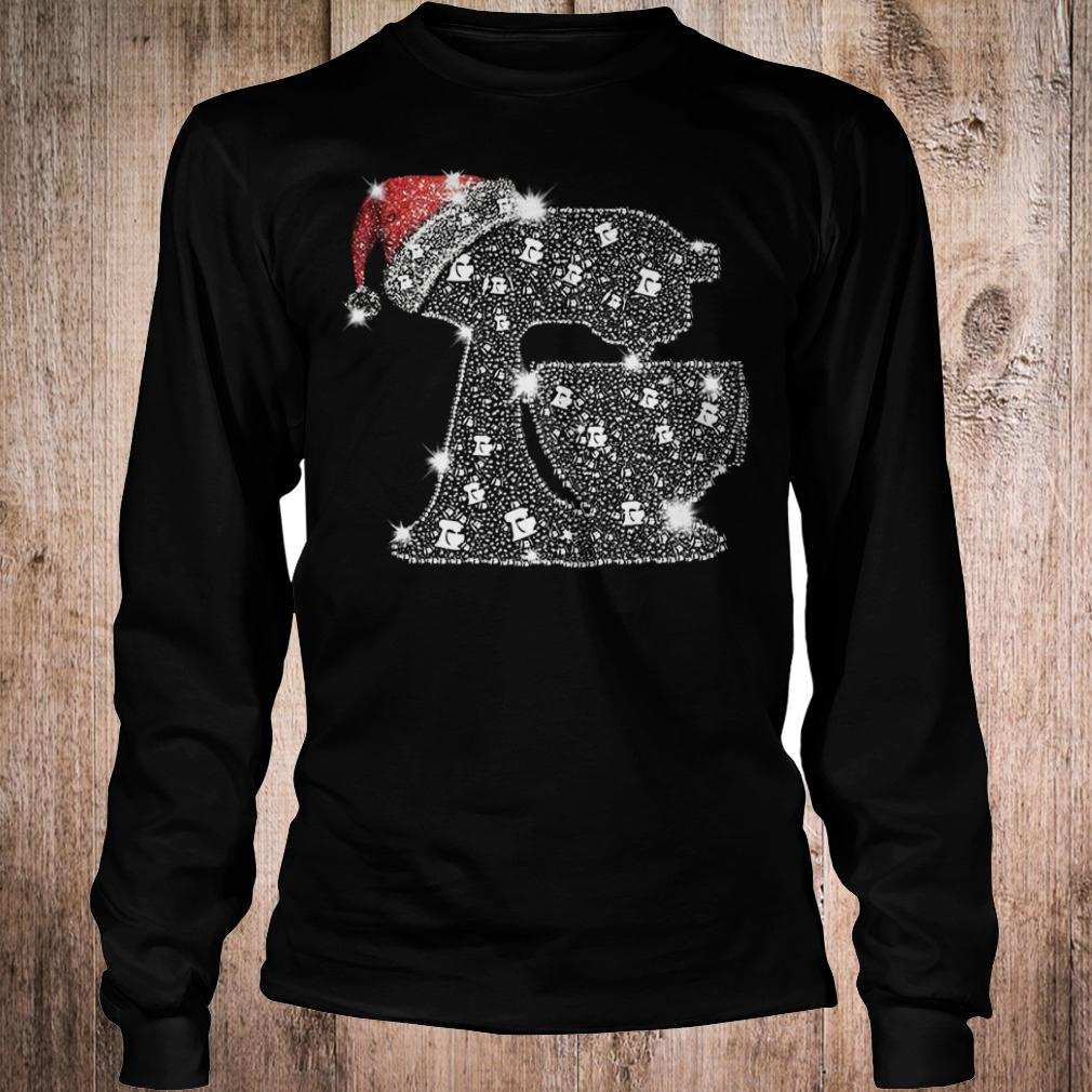 Snoopy Baking Glitter and rhinestones with santa hat shirt Longsleeve Tee Unisex