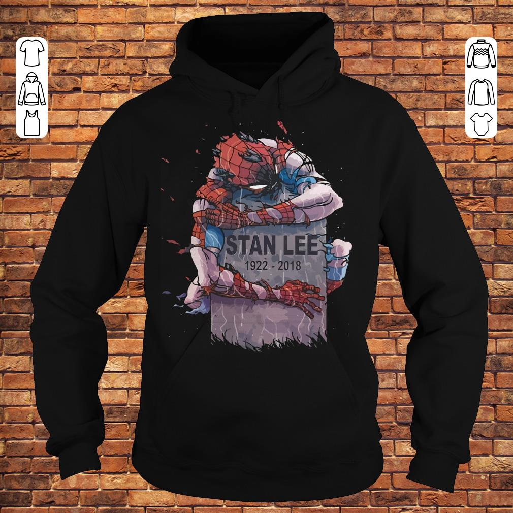 Spider Man hug Stan Lee Shirt Hoodie