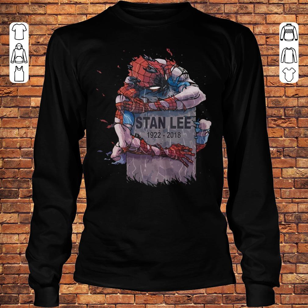 Spider Man hug Stan Lee Shirt Longsleeve Tee Unisex