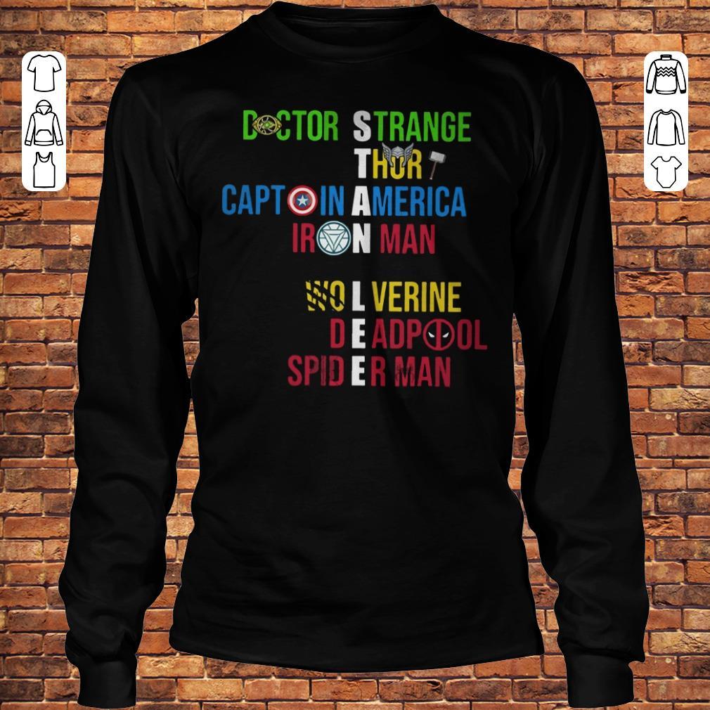 Stan Lee Avenger Team names Shirt Longsleeve Tee Unisex