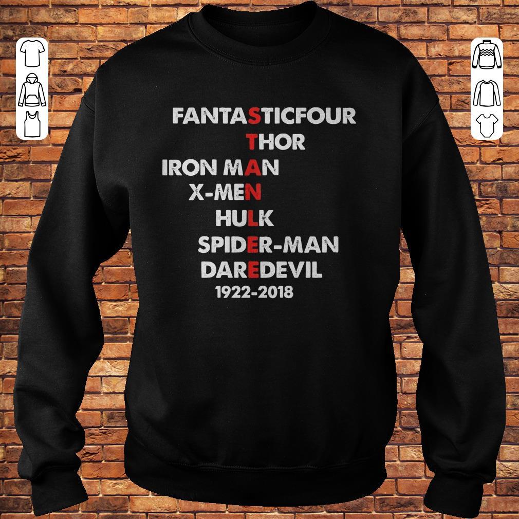 https://premiumleggings.net/images/2018/11/Stan-Lee-Fantasticfour-Thor-Iron-Man-X-men-Hulk-Spider-man-DareDevil-1922-2018-Shirt-Sweatshirt-Unisex.jpg