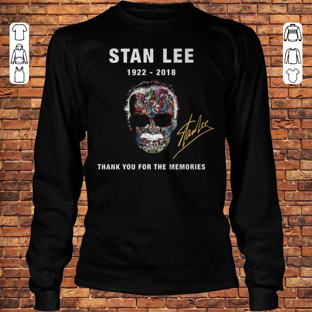 Stan Lee thank you for the memories Shirt Longsleeve Tee Unisex