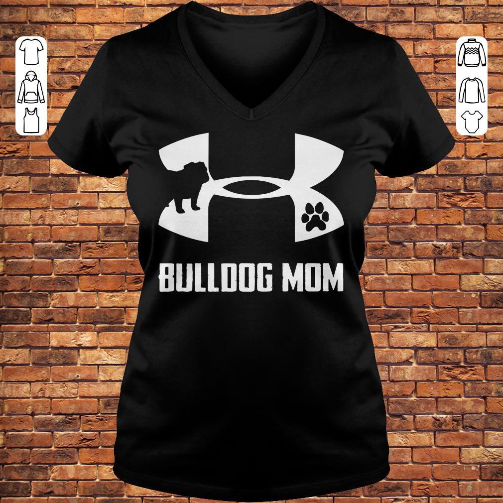 Under Armour Bulldog Mom Shirt Ladies V-Neck