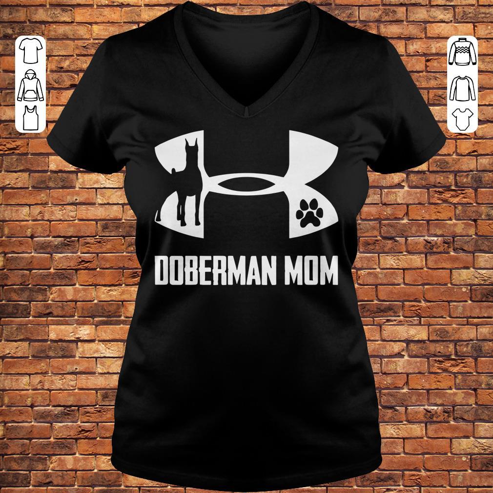Under Armour Doberman Mom Shirt Ladies V-Neck