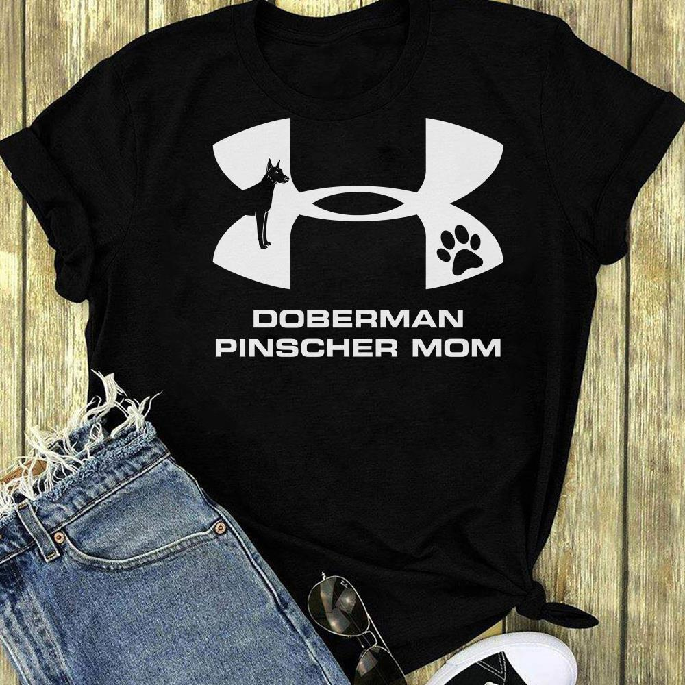 Under Armour Doberman Pinscher Mom shirt