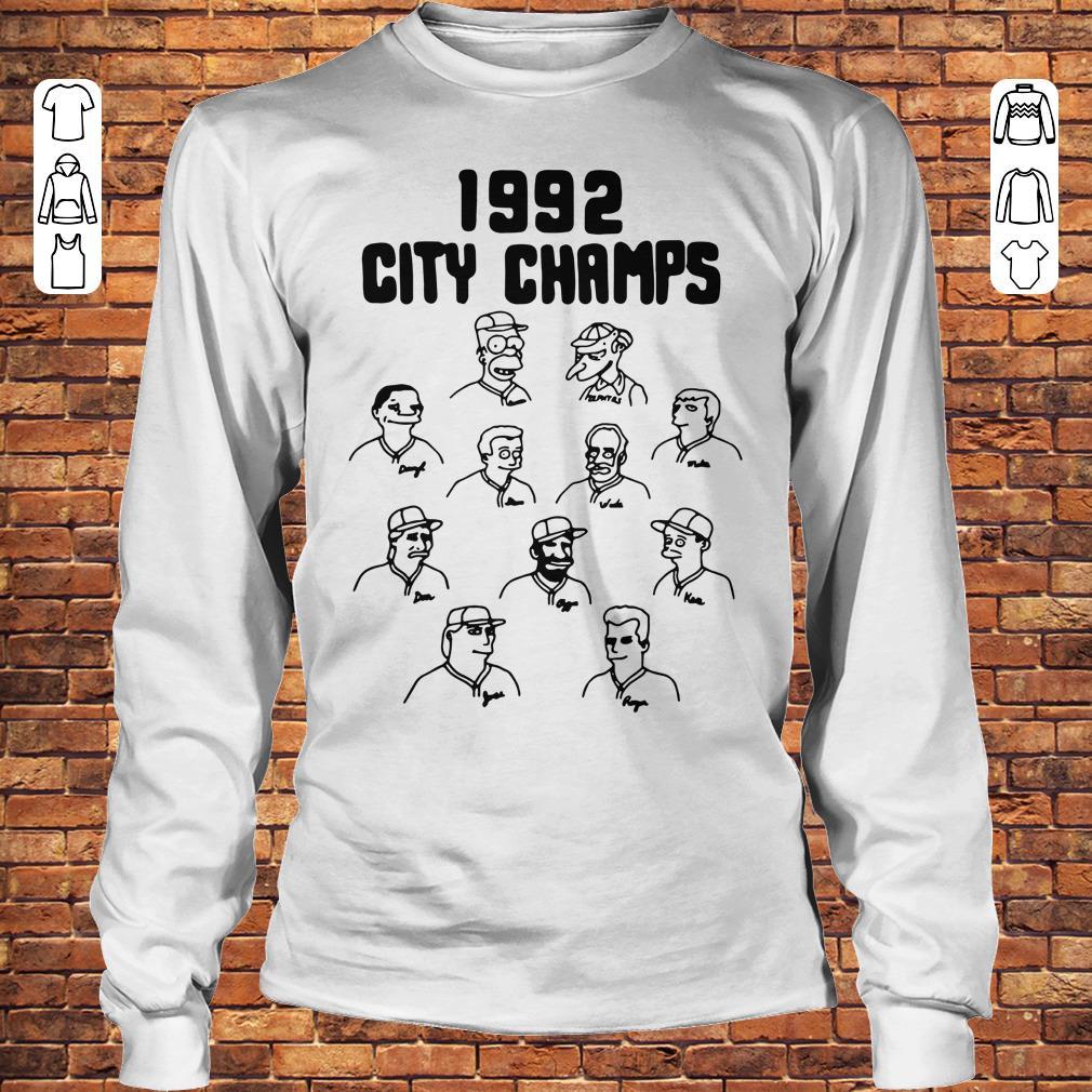 Vintage The Simpsons 1992 city champs shirt Longsleeve Tee Unisex