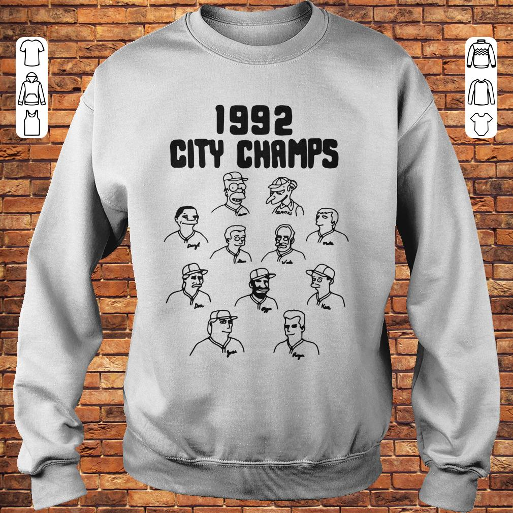 Vintage The Simpsons 1992 city champs shirt