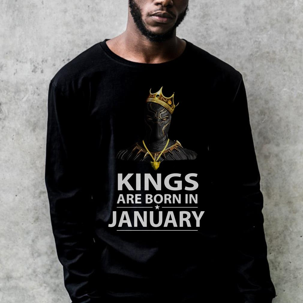 db0fe1c0 Black Panther with crown Kings are born in January shirt, hoodie, sweater  sweatshirt, long-sleeve For Men and Women