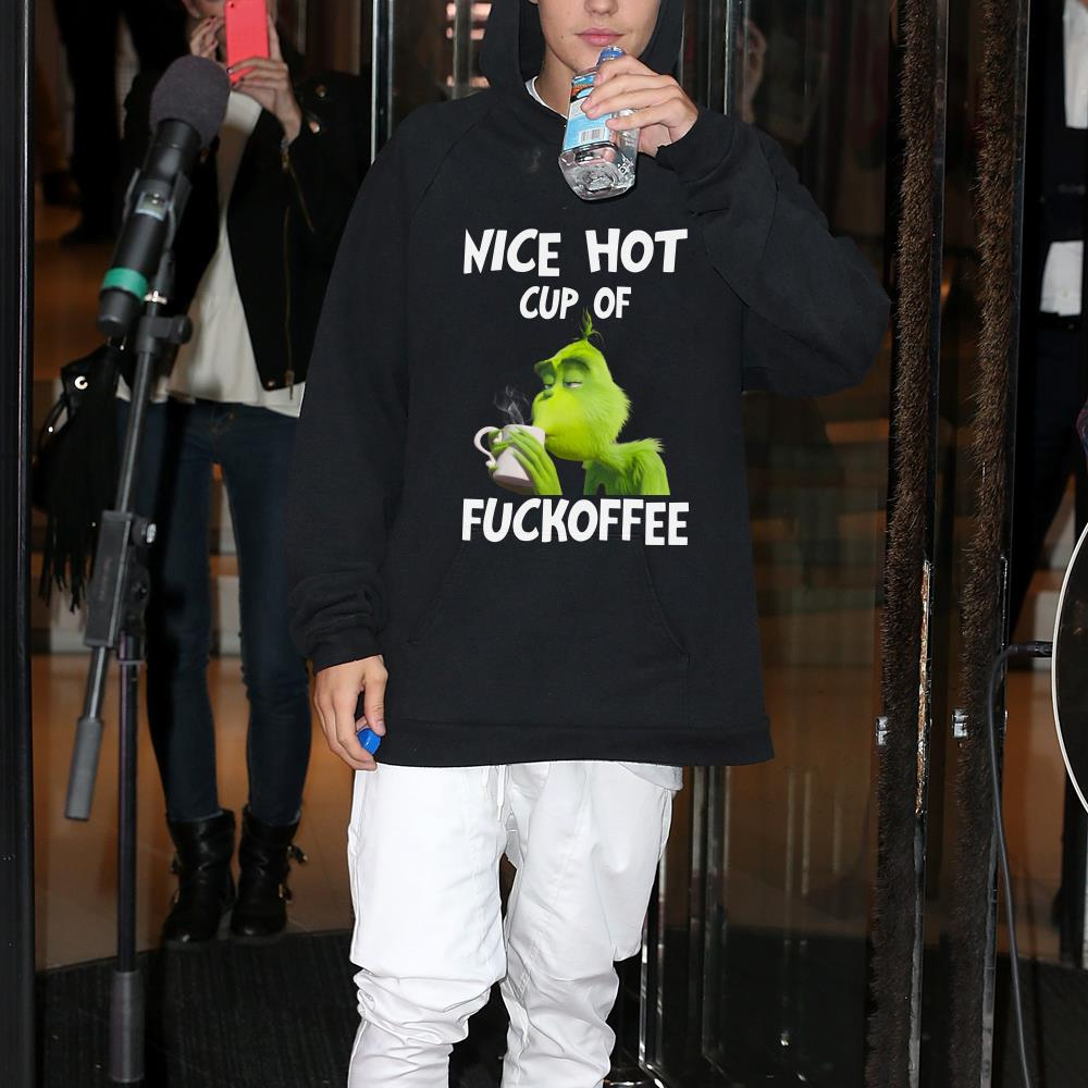 Dr. seuss Grinch Drink nice hot cup of fuckoffee Shirt 1