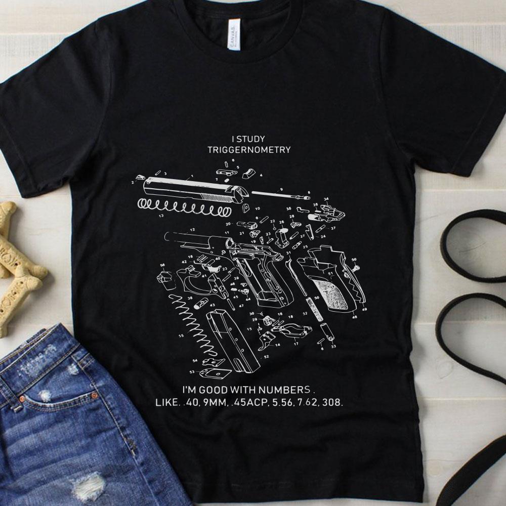 I study triggernometry 3d guns shirt