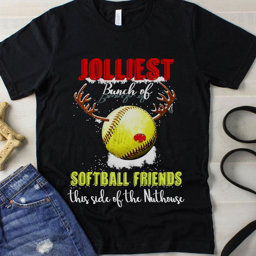 Jolliest Bunch Of Softball Friends this side of the Nuthouse shirt