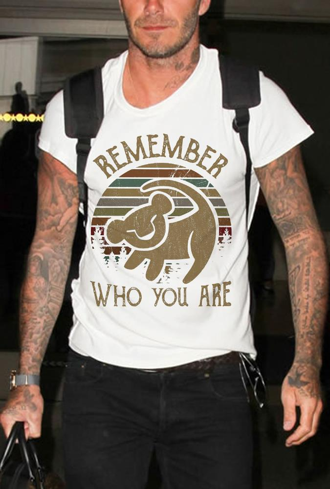 Lion king simba symbol Remember Who you are shirt
