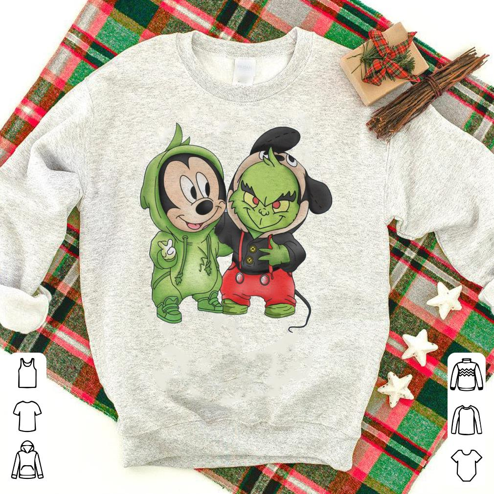 Mickey Mouse and Grinch shirt
