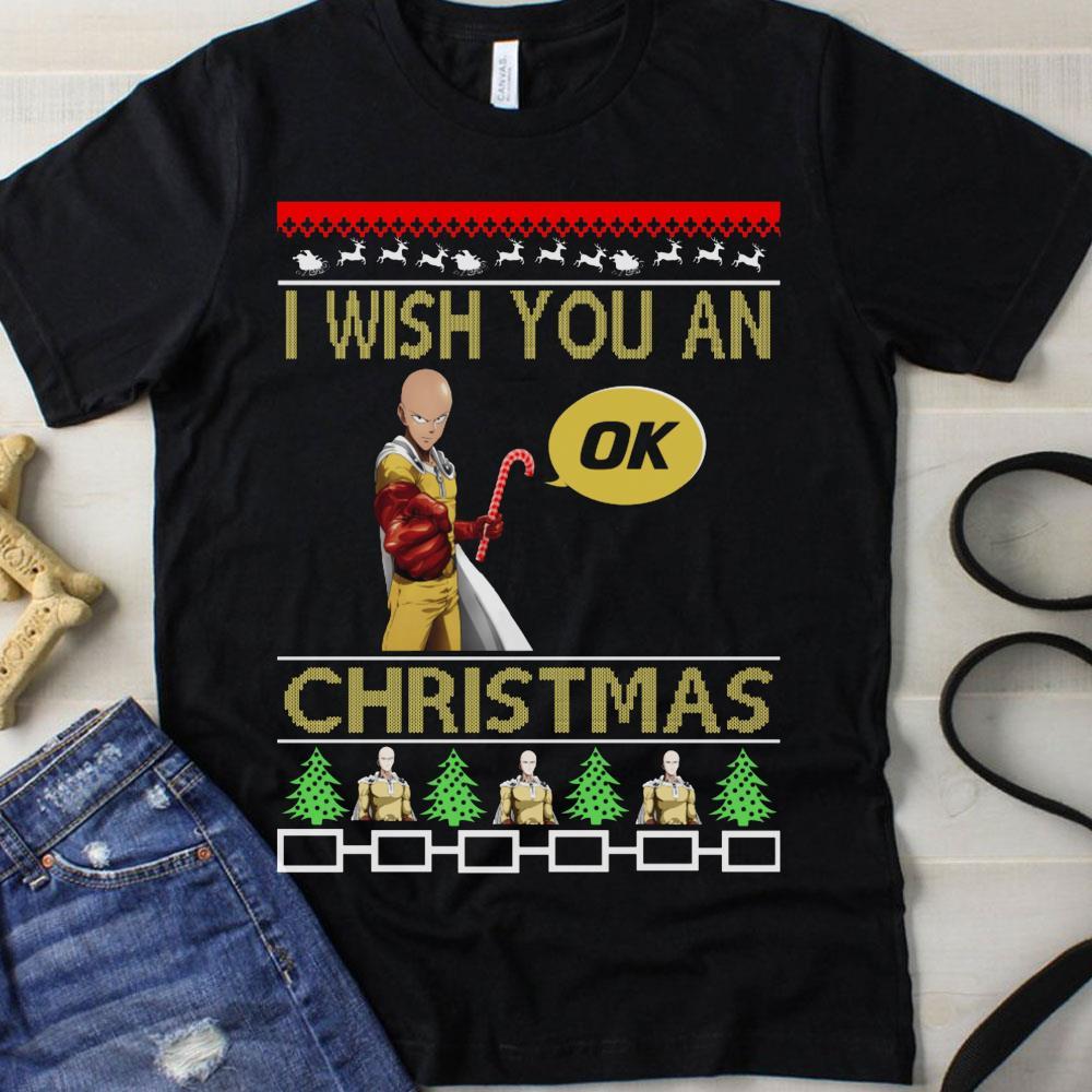 Saitama I wish you an ok Christmas shirt
